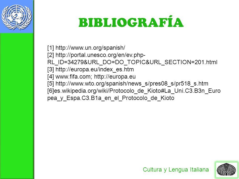 BIBLIOGRAFÍA [1] http://www.un.org/spanish/
